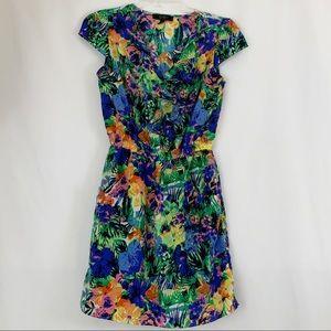 Jessica Simpson Bright Tropical Floral Dress